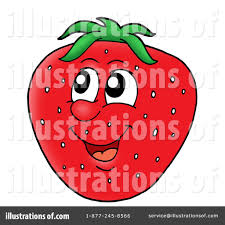 Royalty Free RF Strawberry Clipart Illustration by visekart