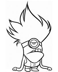 Minions Coloring Pages Evil Minion
