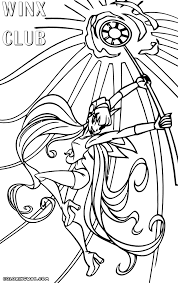 Winx Club Stella Charmix Coloring Page
