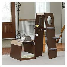 modern cat tower sauder pet home modular modern cat tower 416819 sauder the