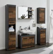 details zu badmöbel set komplett used wood grau 5 teilig bad set modern indy vintage 175 cm