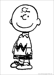 Snoopy Color Page Peanuts Cartoon Characters Coloring Pages Plate Sheet