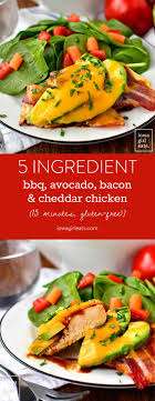 5 Ingredient BBQ Avocado Bacon And Cheddar Chicken Takes Just 15 Minutes To Cook