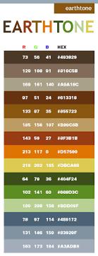 Earth Tone Color Scheme Web Colors