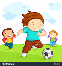 Kids Playing Outside Clipart 7