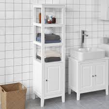sobuy badezimmer hochschrank badregal badschrank mit 3 fächern und tür frg205 w