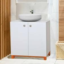 kleankin badschrank bad unterschrank badmöbel weiss