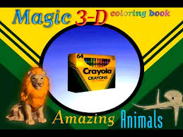 Crayola Magic 3D Coloring Book Amazing Animals