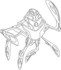 Ben 10 Ampfibian From Ultimate Alien Colouring Page