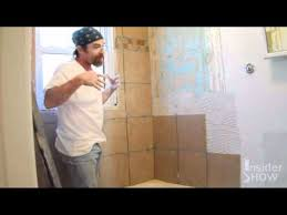 how to lay tile for a bathroom shower tub surround do it