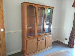 Dining Room Cabinet With Display Case For Glasses