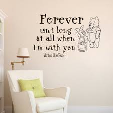 Wall Decal Winnie The Pooh by Aliexpress Com Buy Wall Decal Quote Sticker Home Decor Art Mural