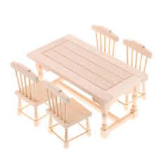 details zu miniatur puppenmöbel esstisch stühle für 1 12 puppenhaus esszimmer