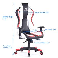SimLife Large Gaming Chair Racing Car Style HighBack Leather ... Best Gaming Chair 2019 The Best Pc Chairs You Can Buy In The Gtracing Gaming Chair For Big Guys Vertagear Pl6000 Review Youtube 8 Chairs Under 200 May Reviews Buying Guide Big And Tall Reddit Brazen Stag 21 Bluetooth Surround Sound Greyblack Racing 350 Lbs Capacity Oversized Ergonomic Office Pewdpie Clutch Rocking Comfy Monty Childs Python Toddler Simlife Large Car Style Highback Leather