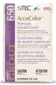 tec皰 accucolor皰 premium sanded grout 650 25 lbs at menards皰