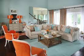orange and aqua blue coastal living room favorite color hgtv