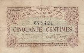 chambre de commerce de beauvais chambre de commerce and local emergency banknotes from during
