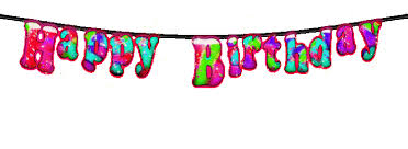 Twinkling happy birthday banner red 1
