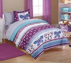Amazon Mainstays Kids Purple Butterfly Coordinated Bedding