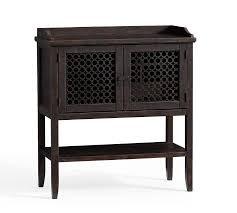 wood lattice door bar cabinet