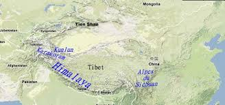 mountain ranges of himalayas mountain chains of tibet