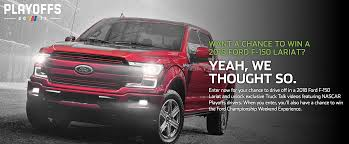 Win A 2018 Ford F-150 On Ford - Monster Energy NASCAR Cup Playoffs ... Build Your Tundra Sweepstakes Julies Freebies Stabil 360 Custom Car Winner Presentation Cool Jasons Story The Of Knapheides Winatruck Win That Ford Mustang Sweeptsakes Mungenast St Louis Honda Enter The Camp Ridgeline Bangshiftcom Classic Liquidators Upgrade Brakes On A 1971 C10 Chevy Pickup Truck Cabelas Announces More Winners Fifty Years Trucks Horsepower Pitvsind Youtube Monster Trucks Merchandise Nra Blog Truck Raffle Receives Prize