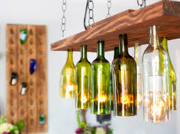White Stain Wall Come With Bar Shower Upcycle Bottle Pendant Light