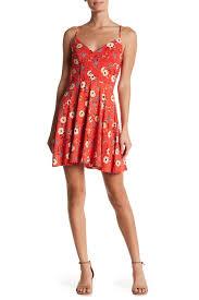 socialite v neck crossback floral print dress nordstrom rack