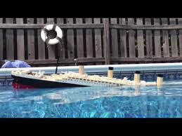 lego titanic model sinking starboard view old youtube