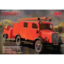 100 Model Fire Truck Kits L1500S LF 8 German Light 135 Scale Plastic Kit By