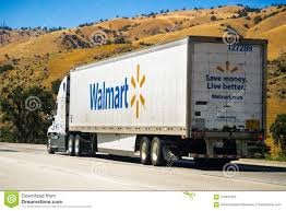 Walmart Truck Driving On The Freeway Editorial Photo - Image Of ...