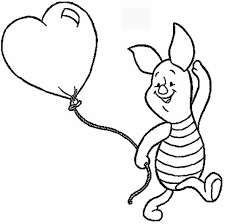 Disney Characters Coloring Pages Piglet