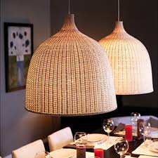 ikea modern america country cage rattan pendant light wicker bird