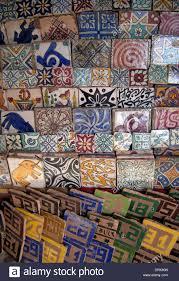decorative ceramic tiles for sale in the souq marrakech morocco