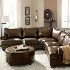 Mathis Brothers Sofa Sectionals by European Classic Nailhead Accented Leather 103