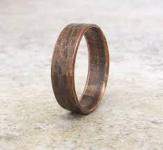 Copper Hammered Bark Ring Oxidized Band by SilverSmack on Etsy $ 33