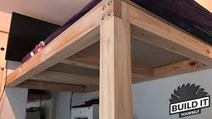 How To Build A Platform Bed Frame Plans by Loft Bed Construction Diy Build It Yourself 4k Youtube