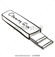 Chewing Gum A ChildrenS Sketch Stock Vector Illustration