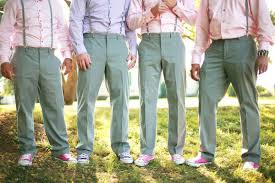 Coloured Shirts For The Groomsmen Adds A Touch Of Fun And Splash Colour Find This Pin More On Spring Wedding Ideas