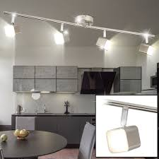 led ceiling l with four moving spots for your kitchen