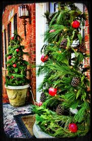 Pre Lit Porch Christmas Trees by Tomato Cage Porch Trees Wrap Garland A Round Tomato Cages Secure