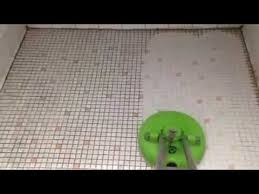 bathroom tile cleaning