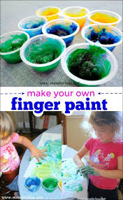 This Homemade Finger Paint Uses Just A Few Common Household Items And Is Super Fun For Kids Great Art Activity