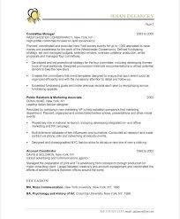 Marketing Resume Examples Event Coordinator Pdf