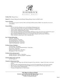 Resume Examples For Banquet Manager Catering Description