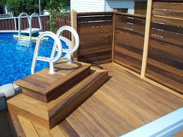 Horizontal Deck Railing Ideas by Pool Deck Designs For Above Ground Pools 40 Uniquely Awesome Above