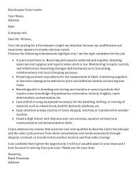 Storekeeper Cover Letter Sample Recommendation For Store Keeper