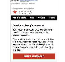 Why Won t Macy s Tell Me If Password Reset Email Is Legit Not