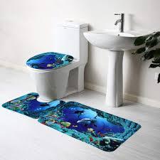 delleu 3 stücke dolphins badematte teppich set muster
