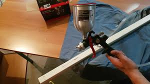 Parkside Air Paint Spray Gun PDFP 500 C3 Testing YouTube